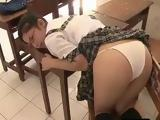 Japanese Student Teases In A Classroom