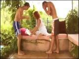 Young Boys Surprised Their Pretty Milf Neighbor