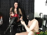 spitting and piss from german bdsm fetish domina for slave